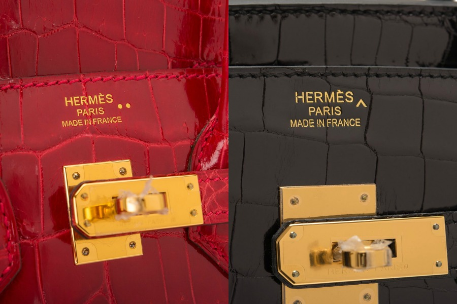 Hermes Crocodile and Alligator Marks