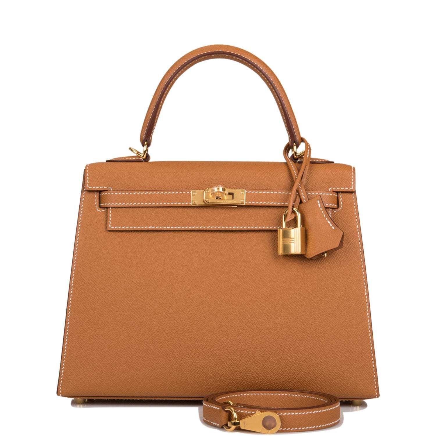 Hermès Gold Epsom Sellier Kelly 25cm Gold Hardware